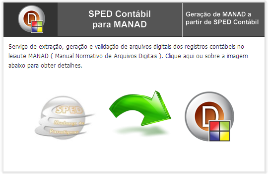 SPED CONTÁBIL to MANAD